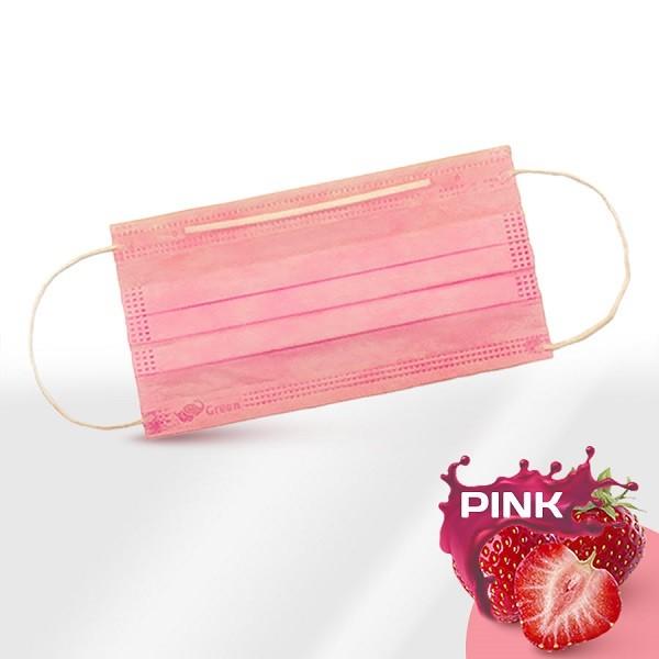 Маски медицинские 3-слойные с носовым фиксатором в п/э розовые НЕТ В НАЛИЧИИ